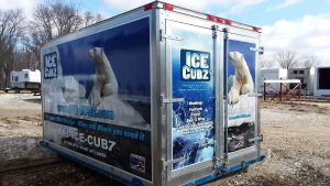 A photo of a Ice-Cubz cold storage container.