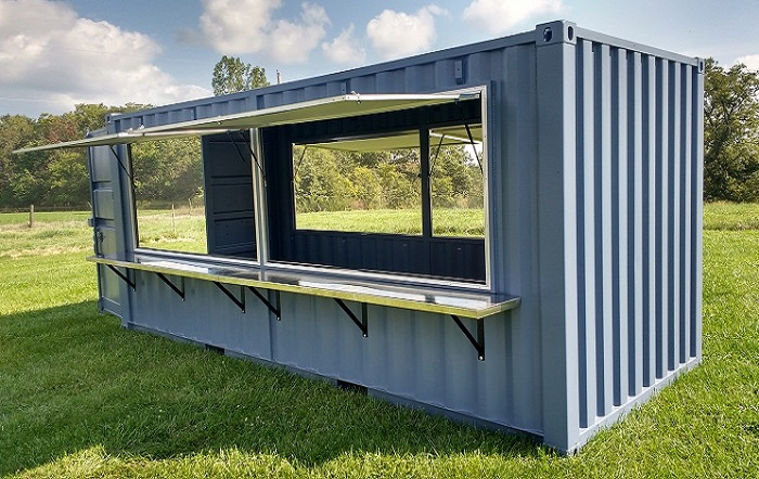 A concession stand trailer, one of the shipping containers you can
