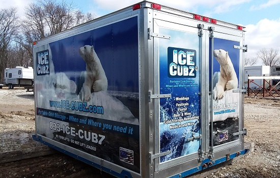 Refrigerated Shipping Containers for Rent, called an Ice-Cubz container