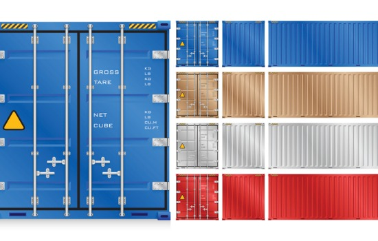 An illustration of Shipping Container Dimensions
