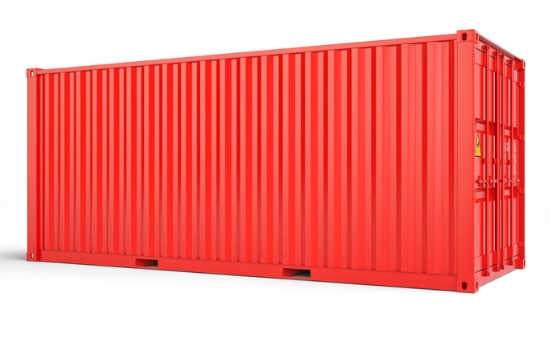 Red Shipping Container