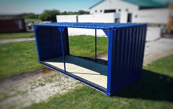 Blue Patiotainer for Outdoor Seating