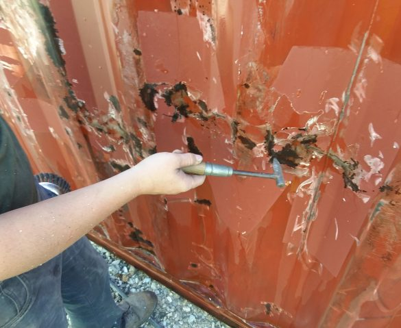 Shipping Container Rust, is this Normal?