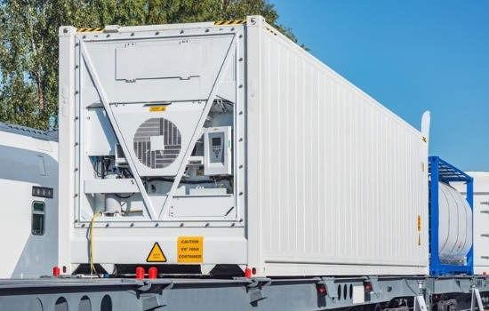 Climate Controlled Containers on the back of a Semis