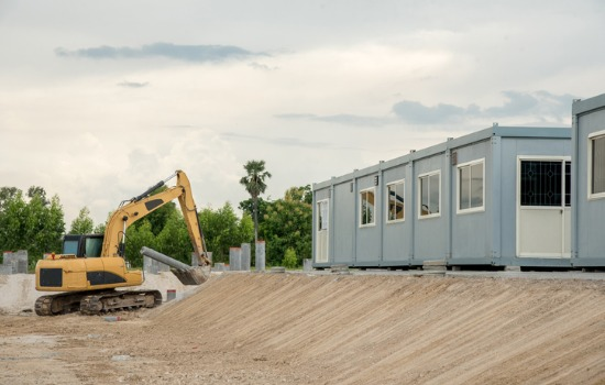 Custom Containers at Missouri Construction Site