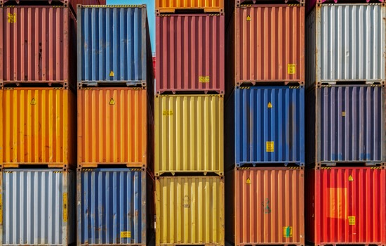 Colorful Stack of Custom Containers Iowa