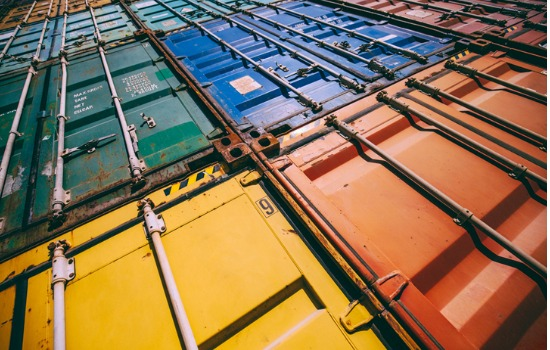 Bird's Eye View of Colorful Custom Containers in Missouri