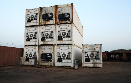 Full View of Cold Used Shipping Containers Near Me