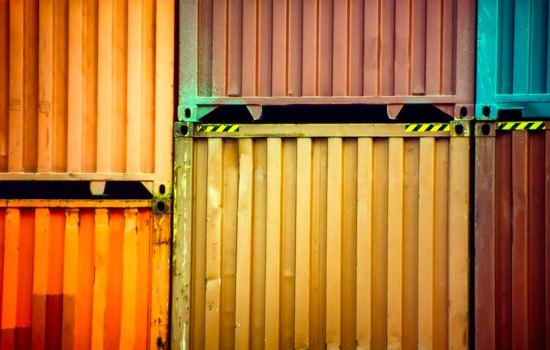 Close Up of Stacked Storage Containers in Missouri