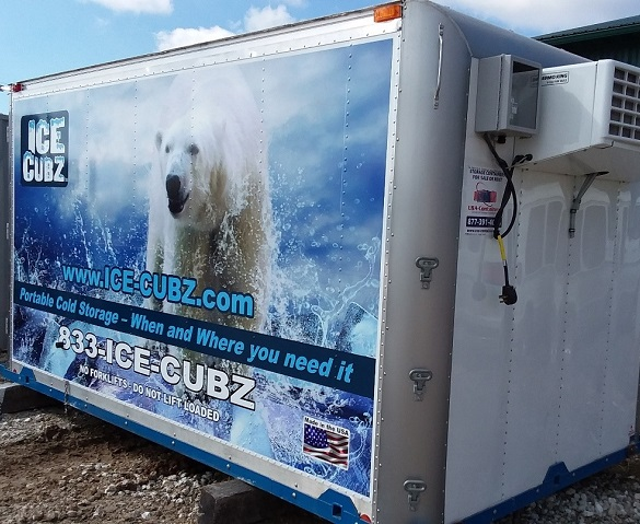The Ice-Cubz, one of many custom Refrigerated Containers in Iowa