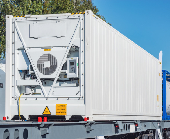 Large Refrigerated Containers in Illinois on trucks