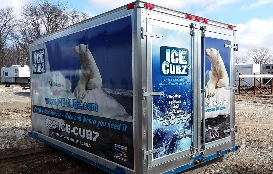 The Ice-Cubz, custom Refrigerated Containers for Peoria IL
